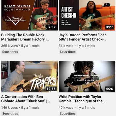 Fender (site officiel)